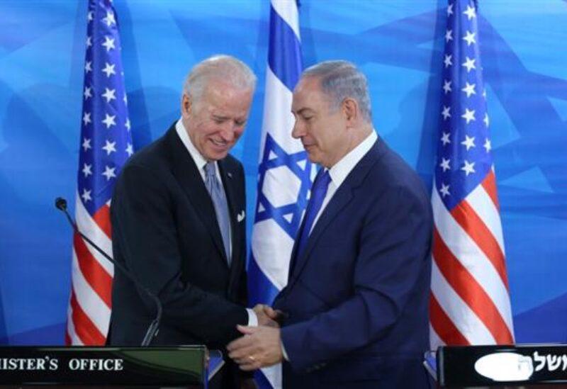 Israeli Prime Minister Benjamin Netanyahu and US president Joe Biden Archive