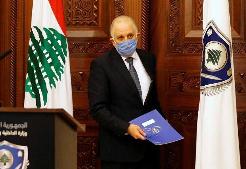 Lebanese Interior Minister Mohamed Fahmy