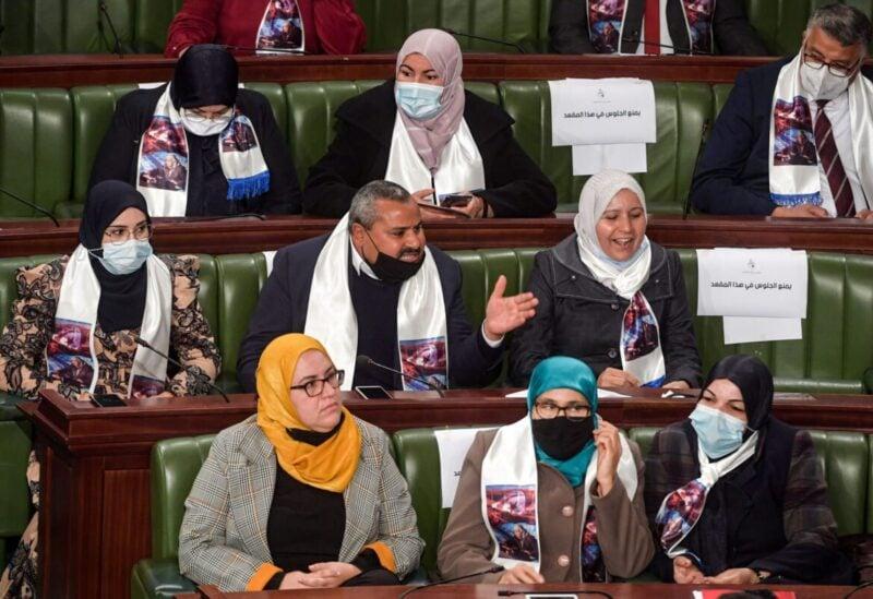 Members of the Ennahda Islamist bloc