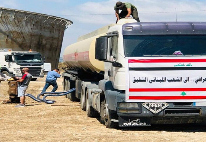 Oil truck heading from Iraq to Lebanon