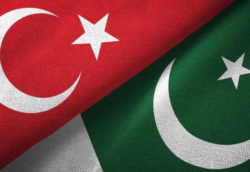 Pakistani and Turkish flags