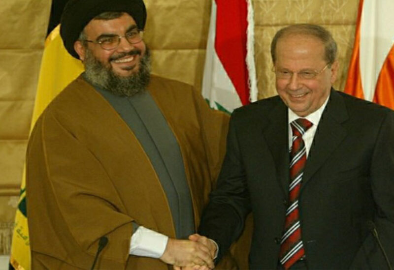 President Aoun with Nasrallah