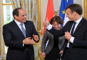 Presidents Macron and Sisi