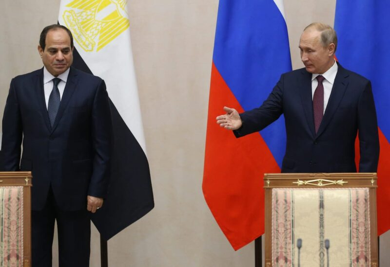Russian President Vladimir Putin and Egyptian President Abdel Fattah el-Sisi