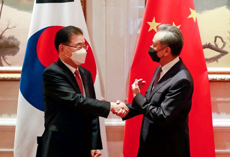 S.Korea and Chinese foreign ministers