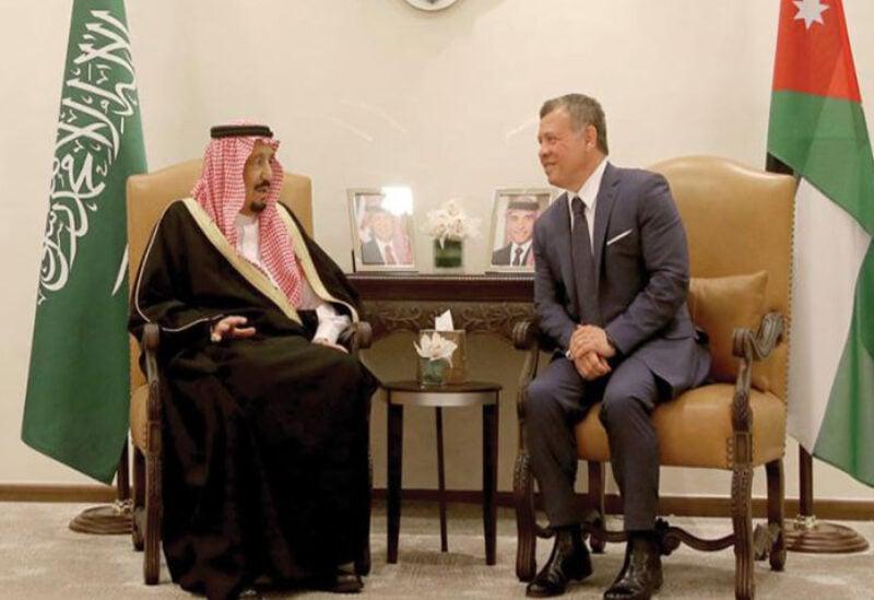 Saudi Arabia's King Salman and King of Jordan Abdullah II