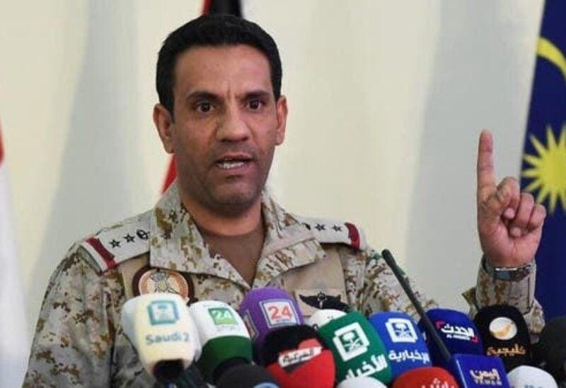Saudi-led coalition spokesman Brig Gen Turki Al Malki