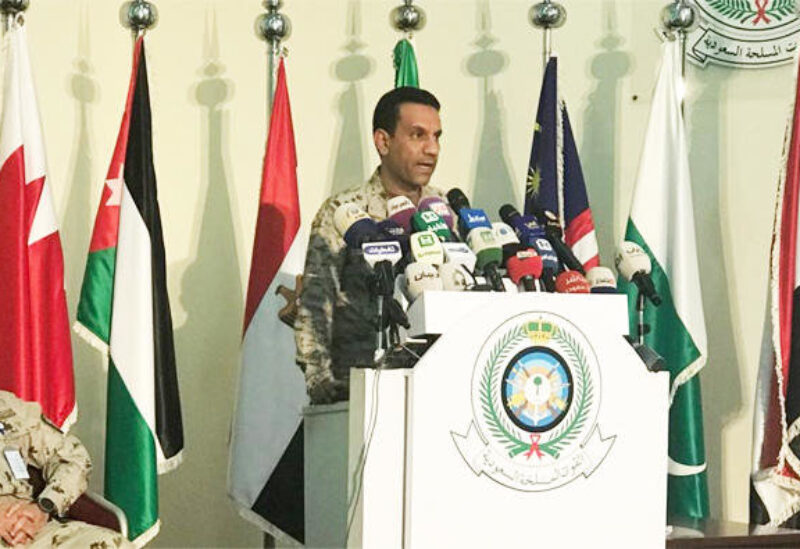 Saudi-led coalition spokesman Turki Al Malki