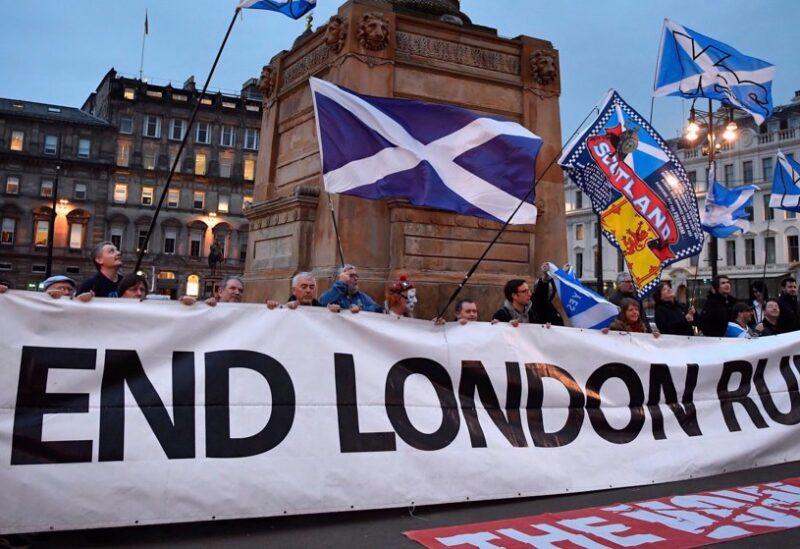 Scottish anti UK protest