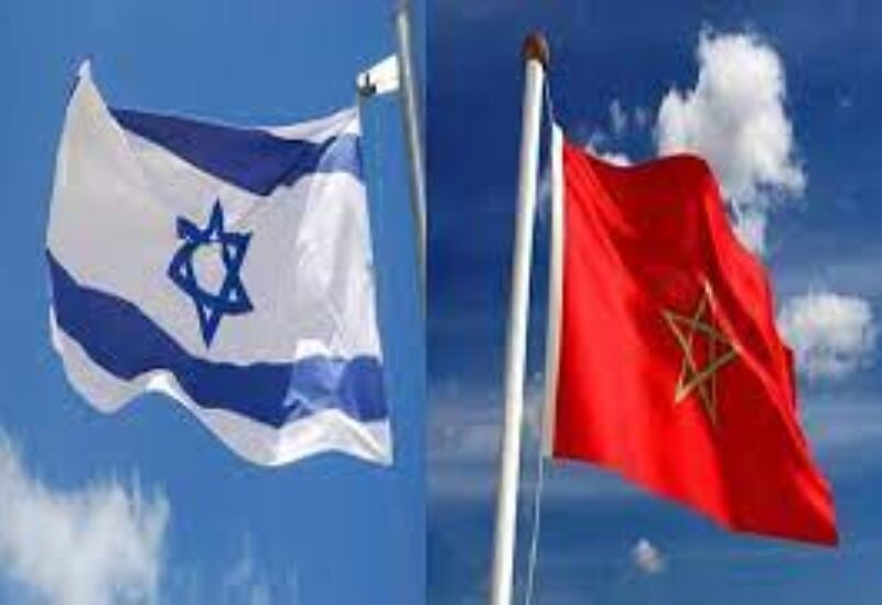The Morrocan and Israeli flags