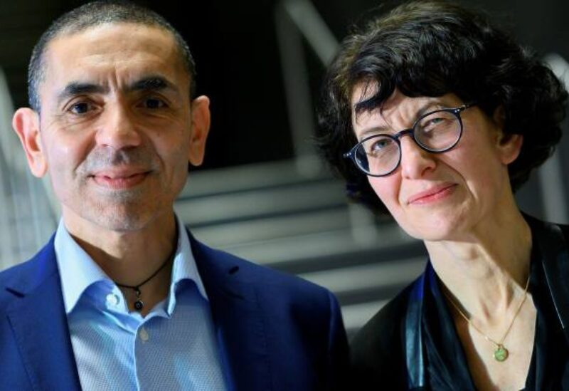 Ugur Sahin and his wife Ozlem Tureci, founders of German biotech group