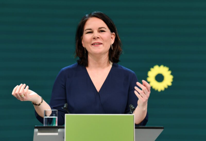 Co-leader of Germany's Green party and designated candidate for chancellor Annalena Baerbock