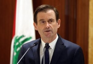 United States Under Secretary of State for Political Affairs David Hale speaks at the Grand Serail in Beirut, Monday, Jan. 14, 2019.