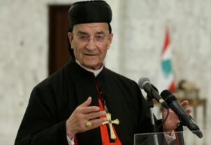 FILE PHOTO: Lebanese Maronite Patriarch Bechara Boutros Al-Rai speaks after meeting with Lebanon's President Michel Aoun at the presidential palace in Baabda, Lebanon July 15, 2020.