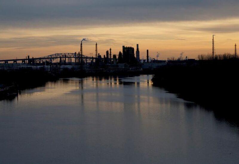 Sun sets on the Philadelphia Energy Solutions plant refinery in Philadelphia, Pennsylvania, U.S., January 9, 2020. REUTERS