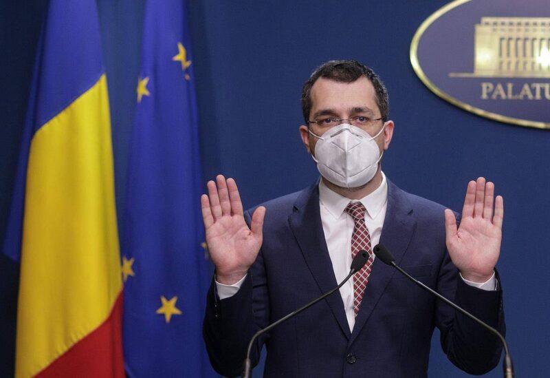 Romania's Health Minister Vlad Voiculescu