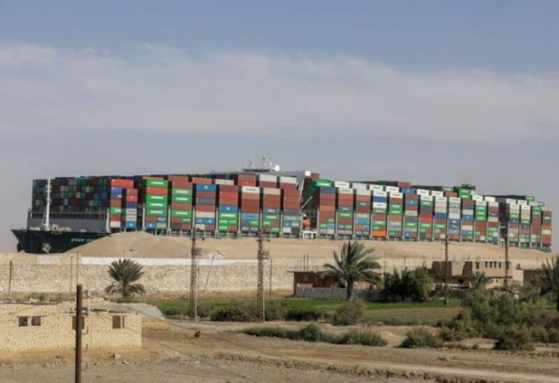FILE PHOTO: Ship Ever Given, one of the world's largest container ships, is seen after it was fully floated in Suez Canal, Egypt March 29, 2021.