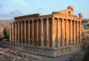 The Baalbek ruins in Lebanon