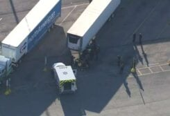 29 people found in a truck in Texas