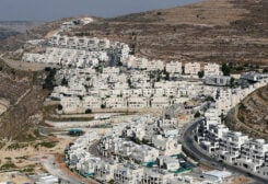 A view shows Israeli settlement buildings around Givat Zeev and Ramat Givat Zeev