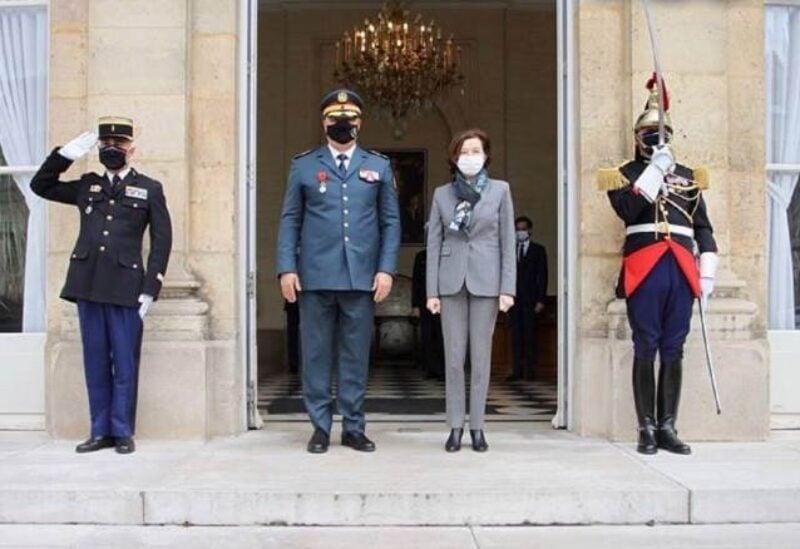 Army Commander Joseph Aoun in France