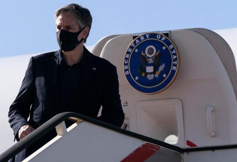 Blinken arriving to Jordan