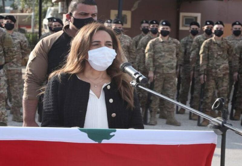Caretaker Minister of Defence Zeina Akar