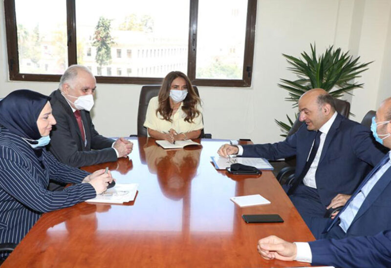 Defense Minister Akar and Interior Minister Fahmy during a meeting in Foreign Affairs Ministry