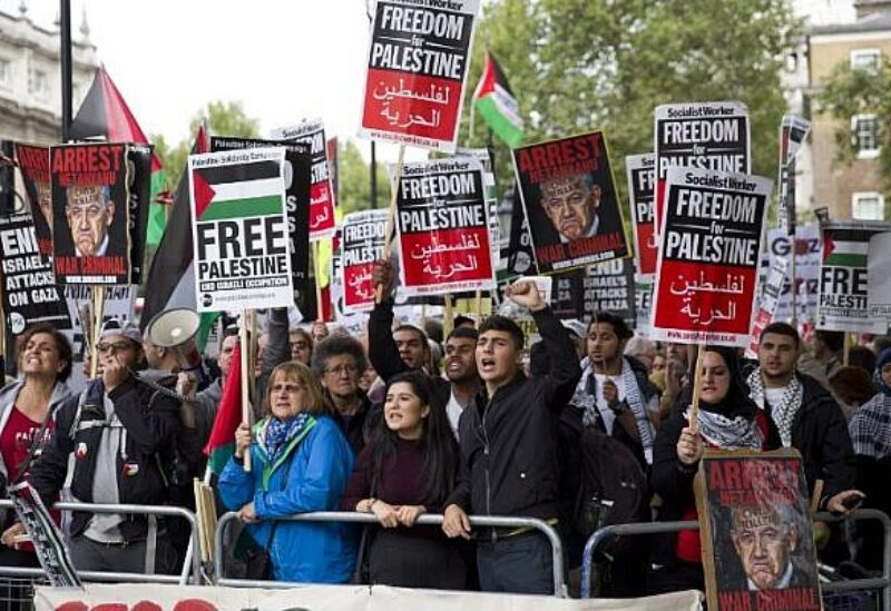 Downing street Palestinian protest, Archive