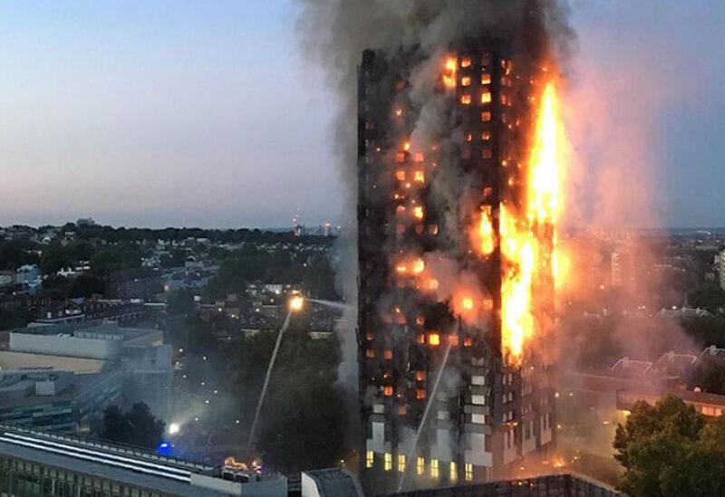 Fire breaks out in London tower