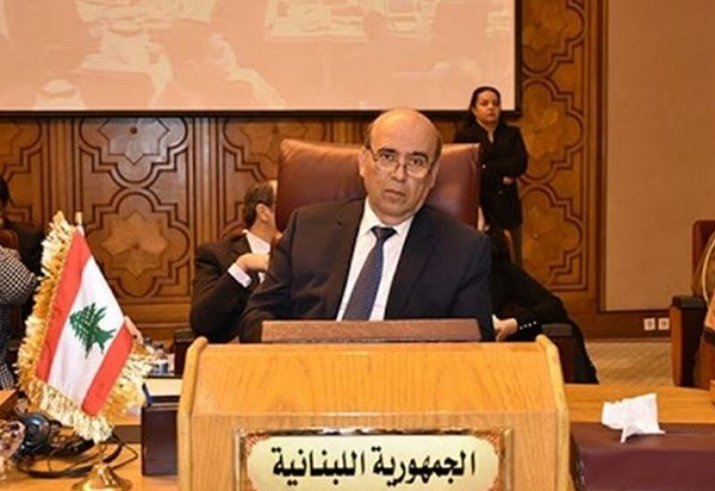 Foreign minister Charbel Wehbe
