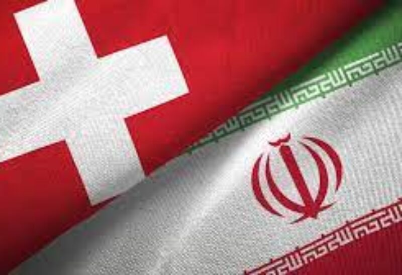 Iranian and Swiss flags