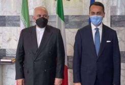 Iran's Foreign Minister Mohammad Javad Zarif meets his Italian counterpart Luigi Di Maio