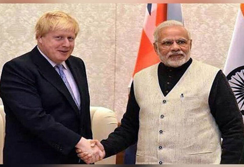 Johnson previously met with the Prime Minister of India