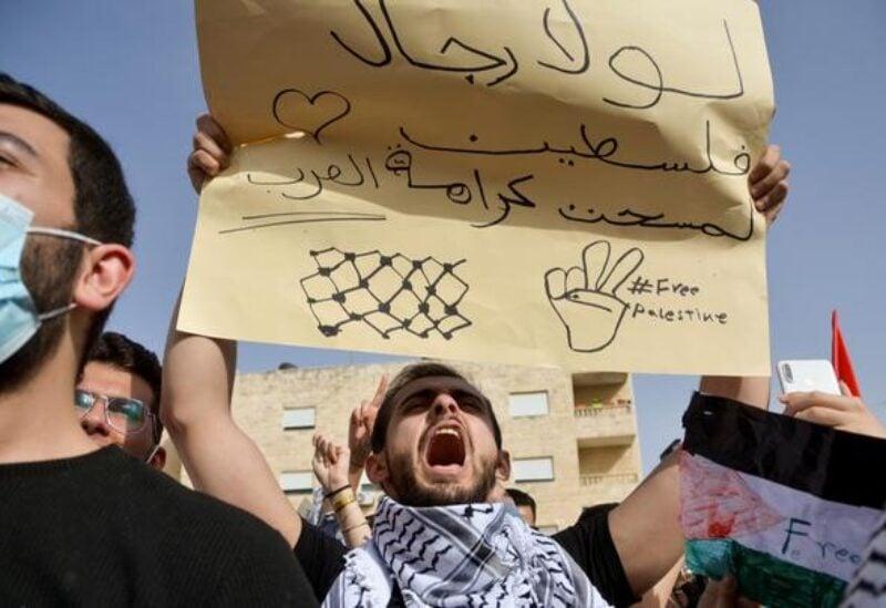 Jordan, pro Palestinians protest