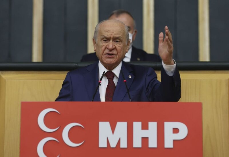 Leader of Turkey's Nationalist Movement Party, Devlet Bahceli