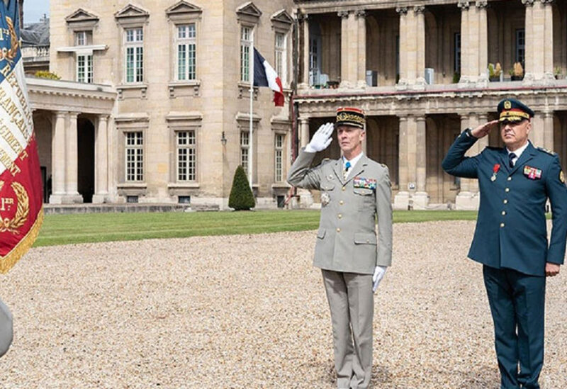 Lebanese Army Commander Gen. Joseph Aoun in France at the invitation of the Chief of the Defense Staff, General Francois Lecointre