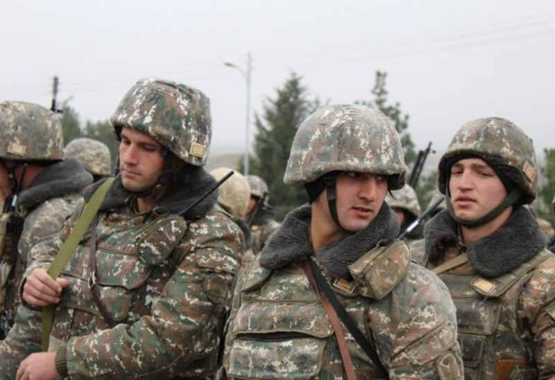 Members of Armenian army forces