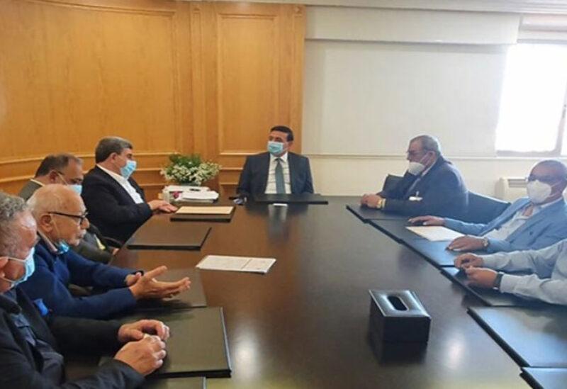 Najjar met delegation from Land Trasport Unions