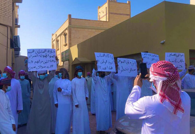 Omanis protested unemployment in Salalah and Suhar