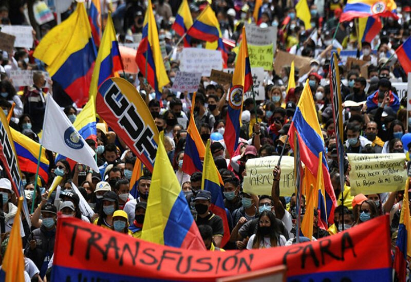 Protests through Colombia