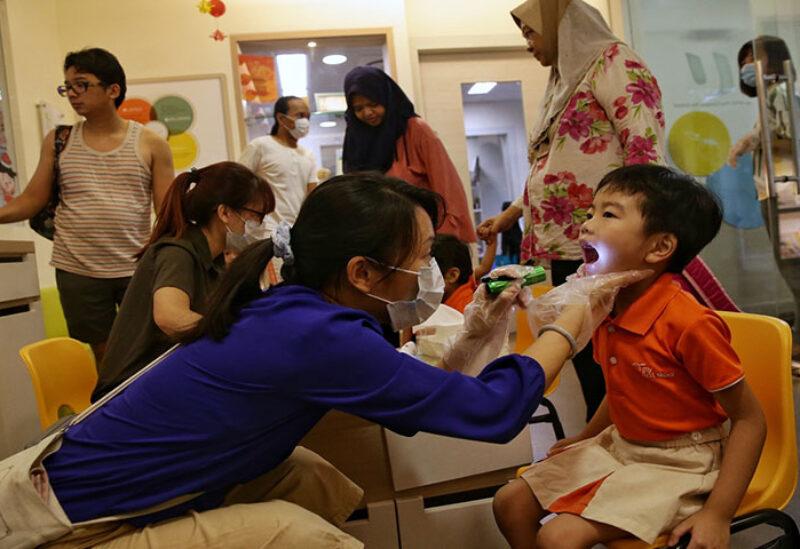 Pupils in schools in Singapore