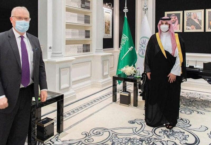 Saudi Arabia's Deputy Minister of Defense Prince Khalid bin Salman received UN Special Envoy for Yemen