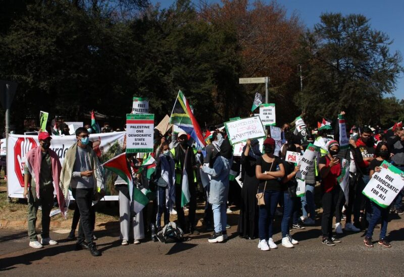 South Africa pro Palestinian demo