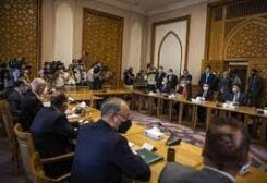 Turkish and Egyptian Foerign Ministers meeting