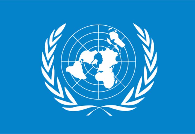 UN logo.