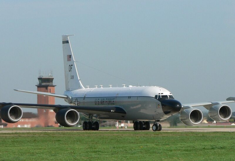 US Air Force RC-135 strategic reconnaissance aircraft.