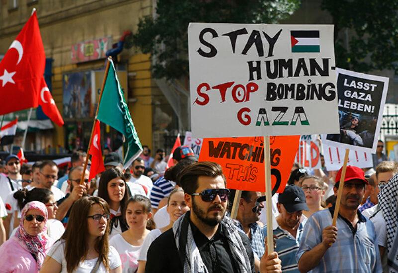 Vienna, Palestinian protest