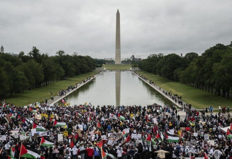 Washington Palestinians rally