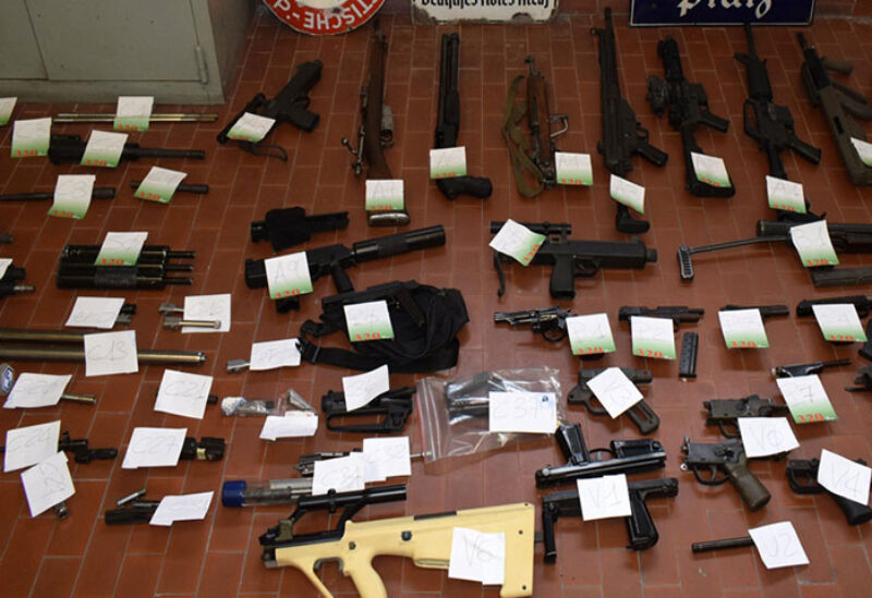 Weapons seized in Italy
